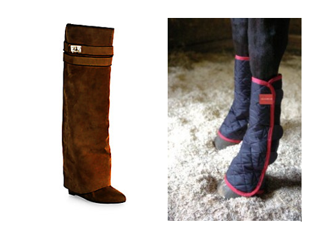 knee high givenchy sheath boots horse boots