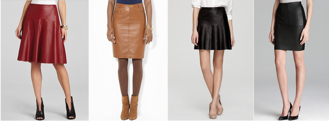 leather skirts ralph lauren bcbg max azria vince