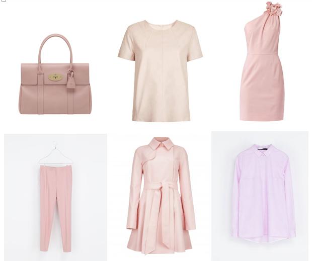 pale pink fashion trend 2013