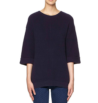 whistles blue ribbed sweater