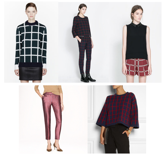 windowpane print fashion trend