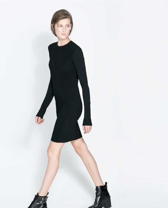zara ribbed dress