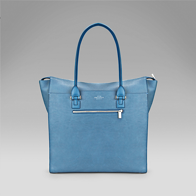 smythson eliot tote prussia blue