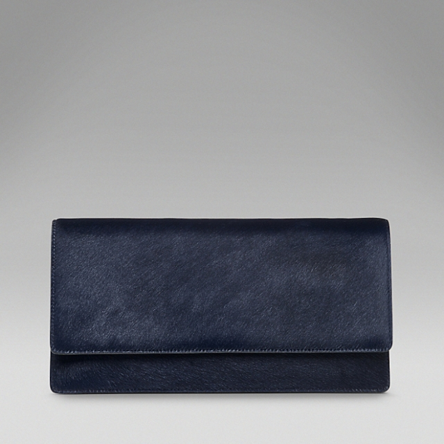 smythson eliot collection classic clutch pony midnight blue