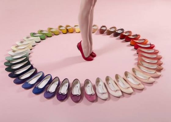 repetto ballet flats color