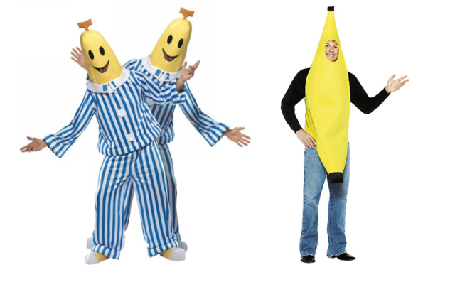 banana in pajamas adult halloween costume