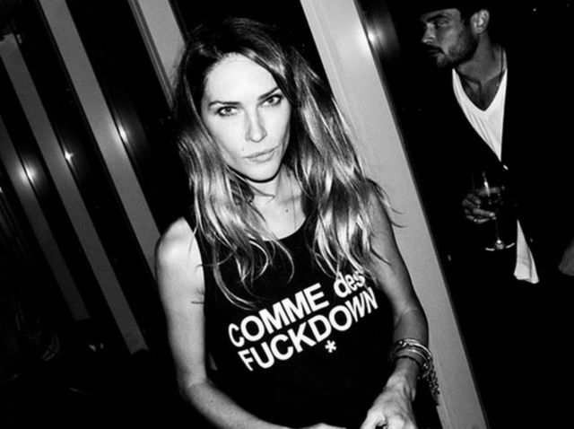 erin wasson faux logo comme des fuckdown glamour