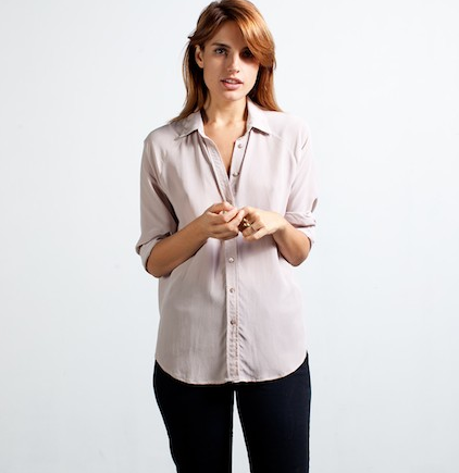 everlane silk shirt dusk
