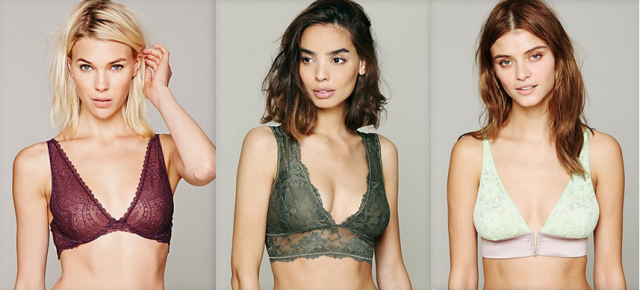 intimately free people deep v lace bras