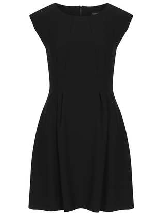 topshop crepe seam flippy dress fit and flare