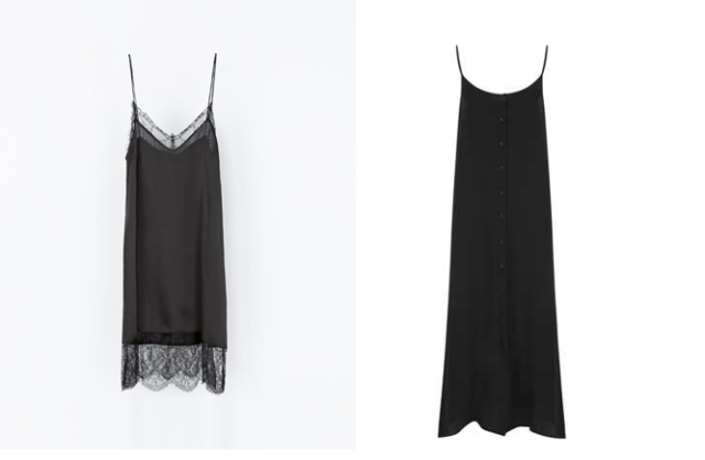 zara lingerie style slip dress topshop button slip dress