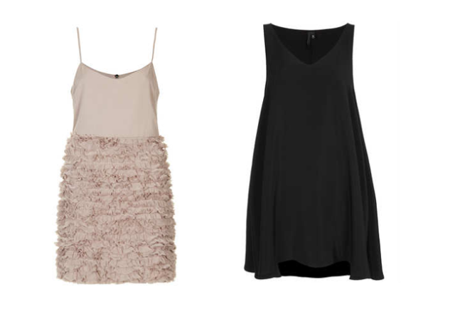 topshop swing slip dress