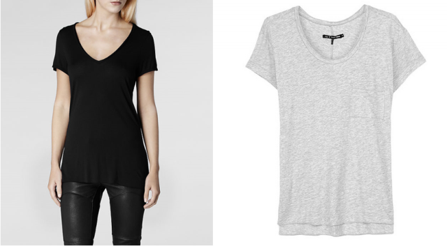 allsaints silk biker tee rag and bone pocket tee