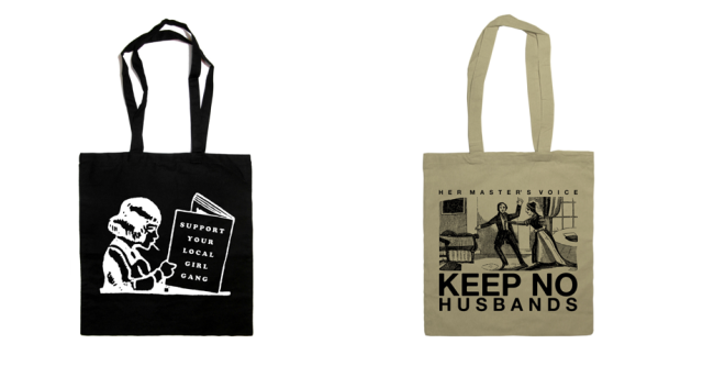 the orphan's arms tote bags keep no husbands