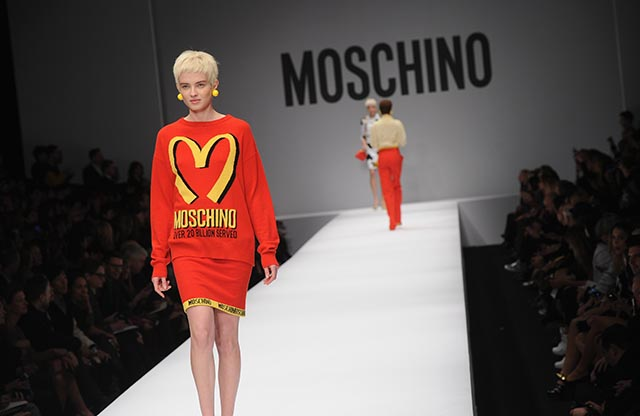 moschino jeremy scott milan fashion week mcdonalds