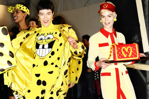 moschino jeremy scott milan fashion week sponge bob mcdonalds tacky