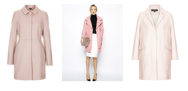 topshop asos pale pink coats outerwear