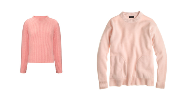 whistles j crew pink sweater