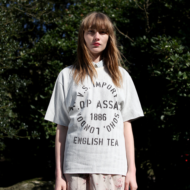 the orphan's arm tea herringbone oversize tee