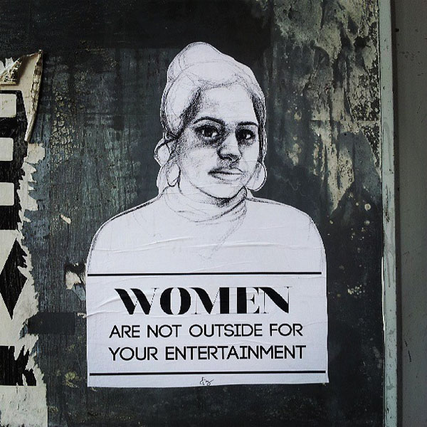 stop telling women to smile sexual harassment art street art mural