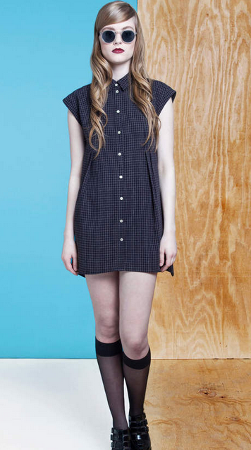 dolores haze fall 2014 check dress