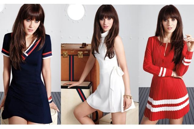 zooey deschanel for tommy hilfiger for tommy from zooey elle magazine