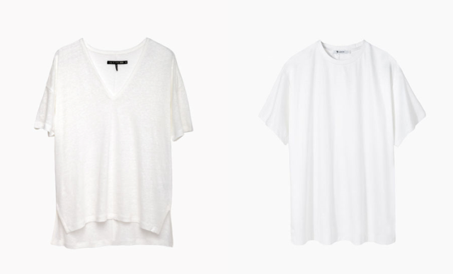 white tee rag and bone t by alexander wang