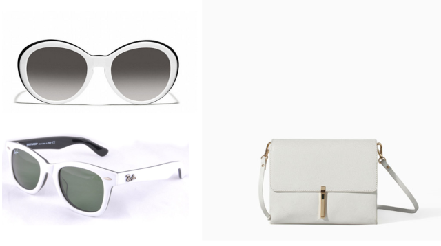 white accessories sunglasses coach ray ban zara white purse