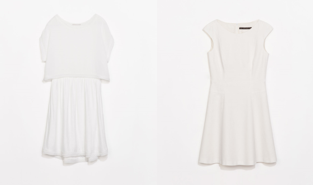 white dress zara