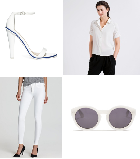 white shoes shirt white denim white sunglasses asos madewell j brand everlane