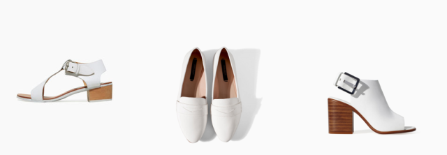 white shoes zara