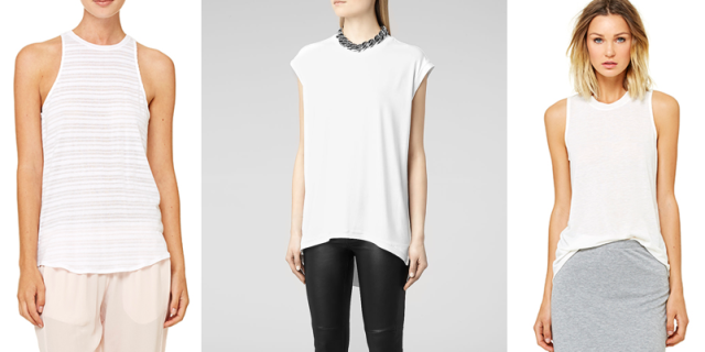white tee bella luxe allsaints