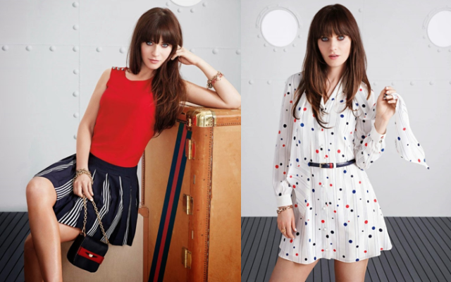 zooey deschanel for tommy from zooey lookbook