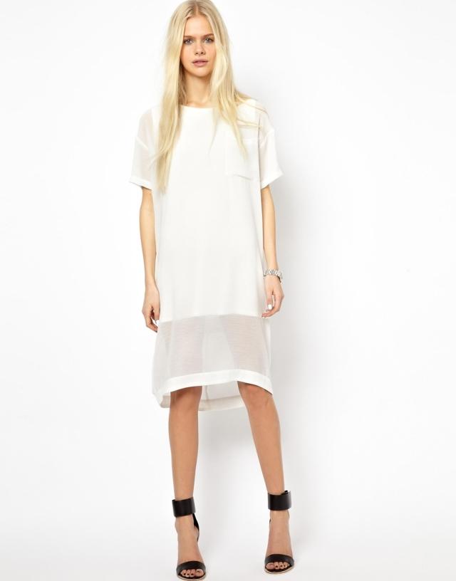 asos white angel dress