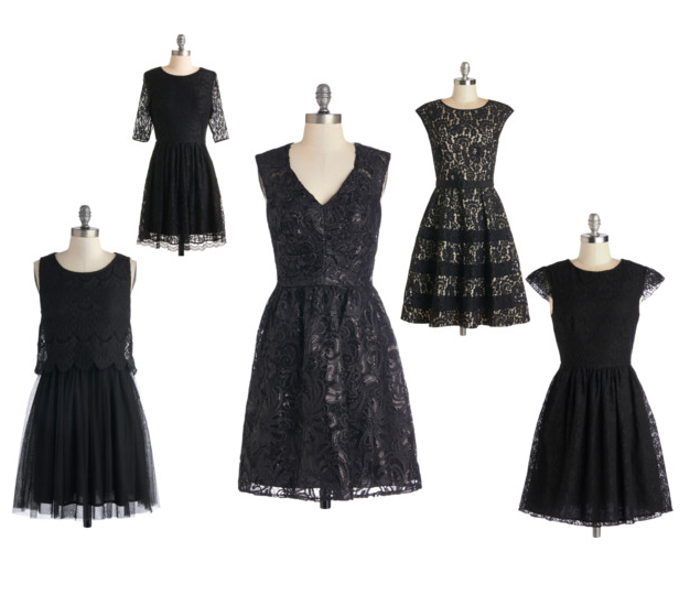 modcloth lace black dress lbd