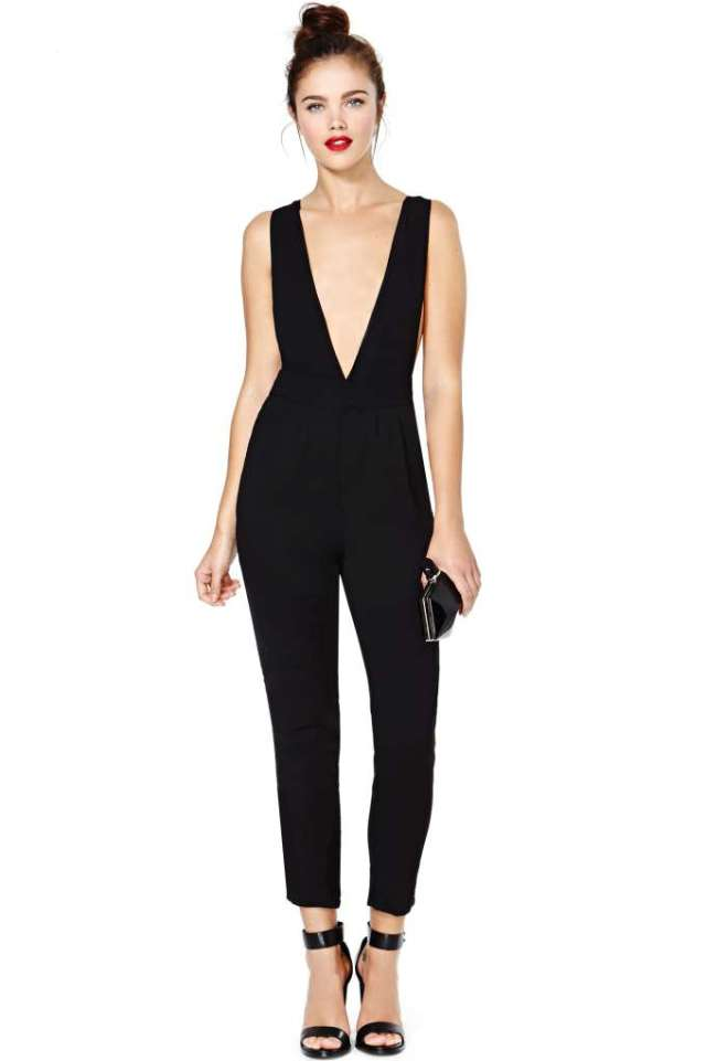 nasty gal in too deep jumpsuit
