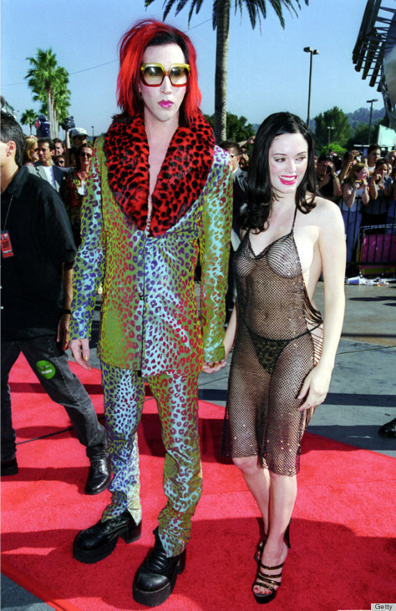 rose mcgowan nude dress marilyn manson