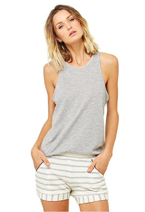 bella luxx marled gray slouchy tank