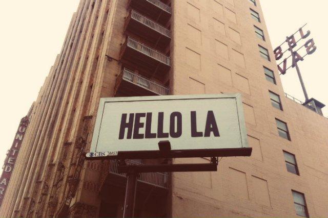 hello la dtla sign