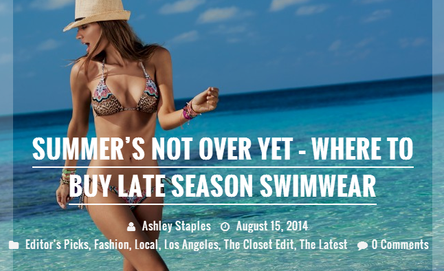 ruevenue magazine ashley staples writing fashion swimwear los angeles