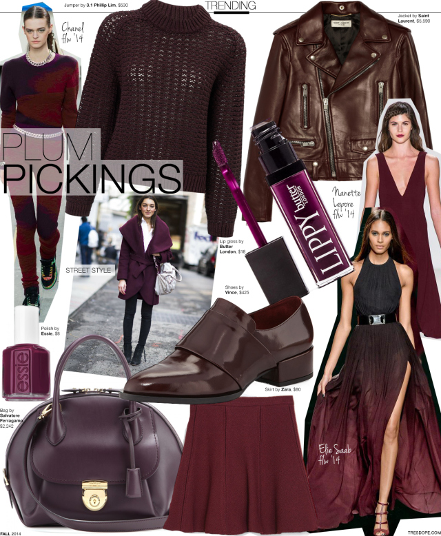 plum pickings fall color fashion trend tres dope