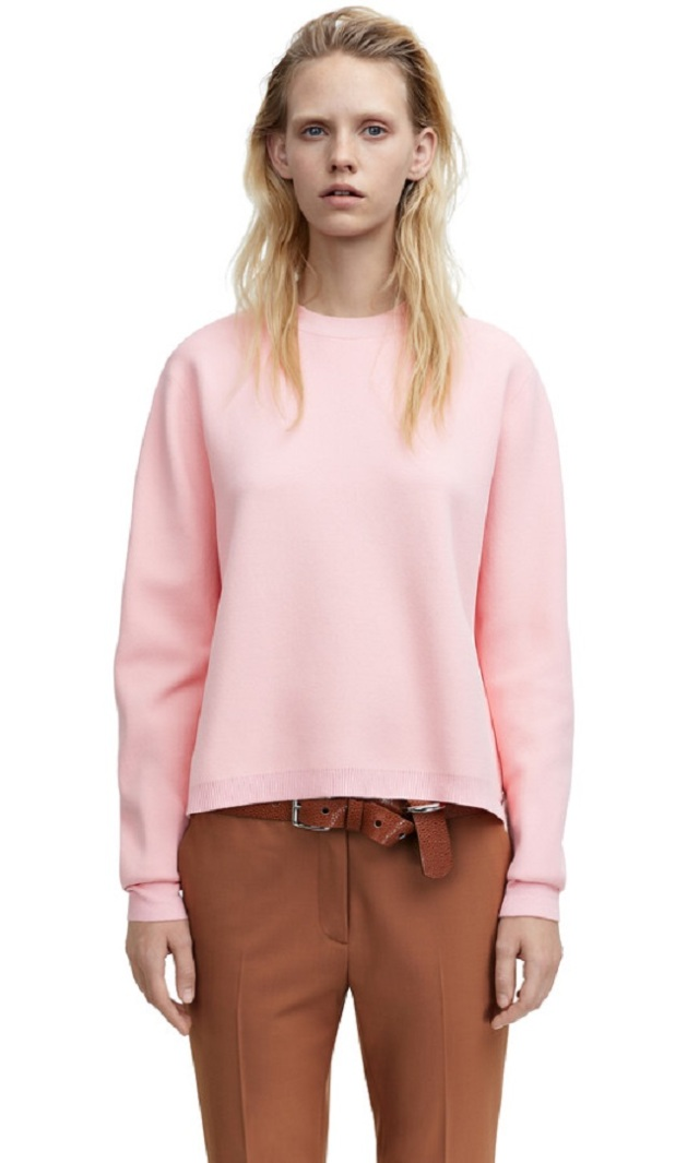 acne misty candy pink sweater