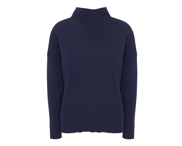whistles grown on neck funnel knit navy