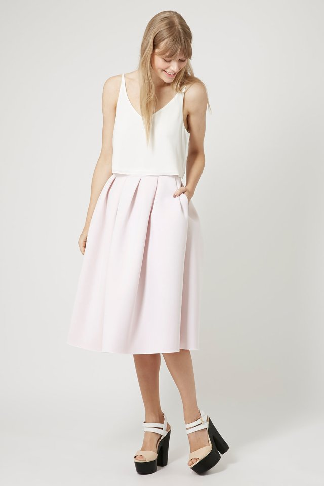 topshop a-line midi skirt trend