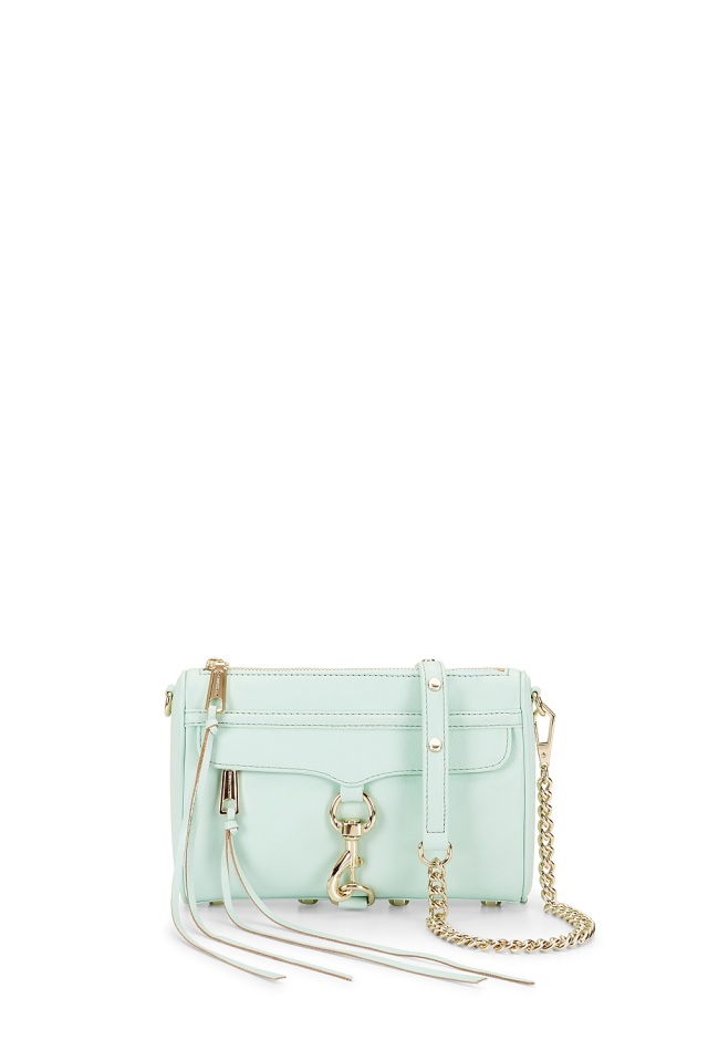 rebecca minkoff sample sale mini mac crossbody bag purse mint