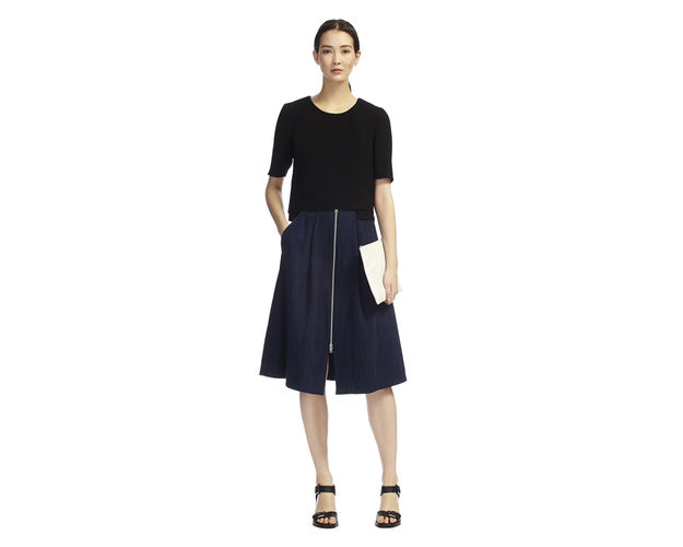 whistles a-line midi skirt